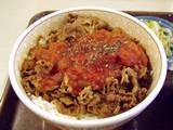 すき牛のトマト牛丼